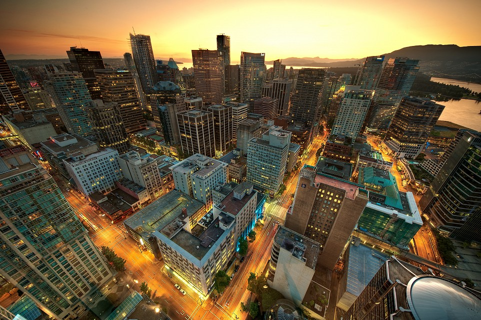 Downtown Vancouver Sunset - Vancouver