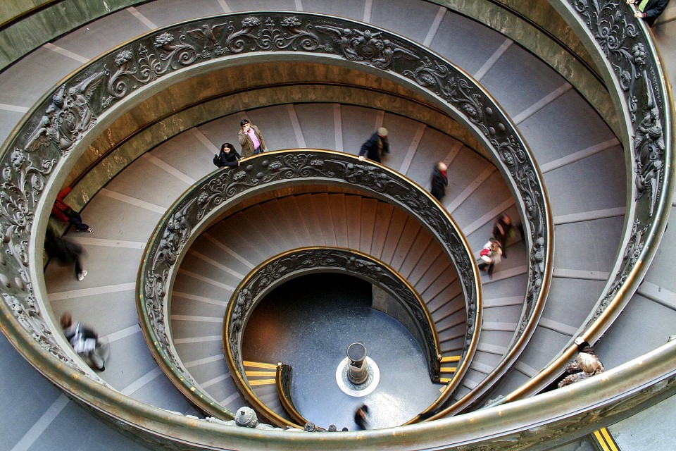Spiral Staircase of the Vatican Museums -