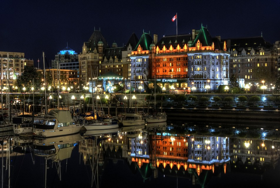 The Empress Hotel Reflected - Victoria
