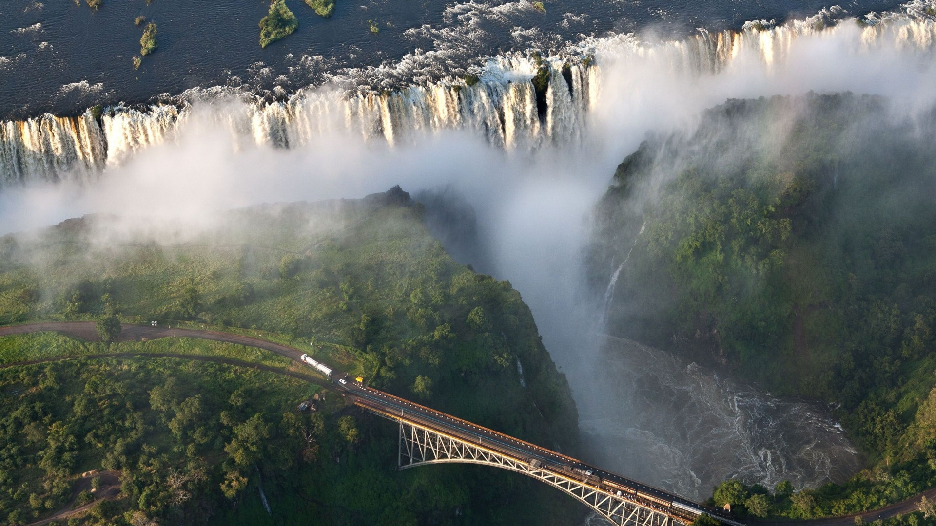 Danger Sign Wallpapers Victoria Falls - Water...
