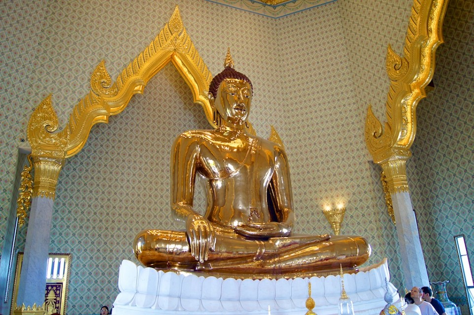 The Golden Buddha at Wat Traimit, Bangkok,