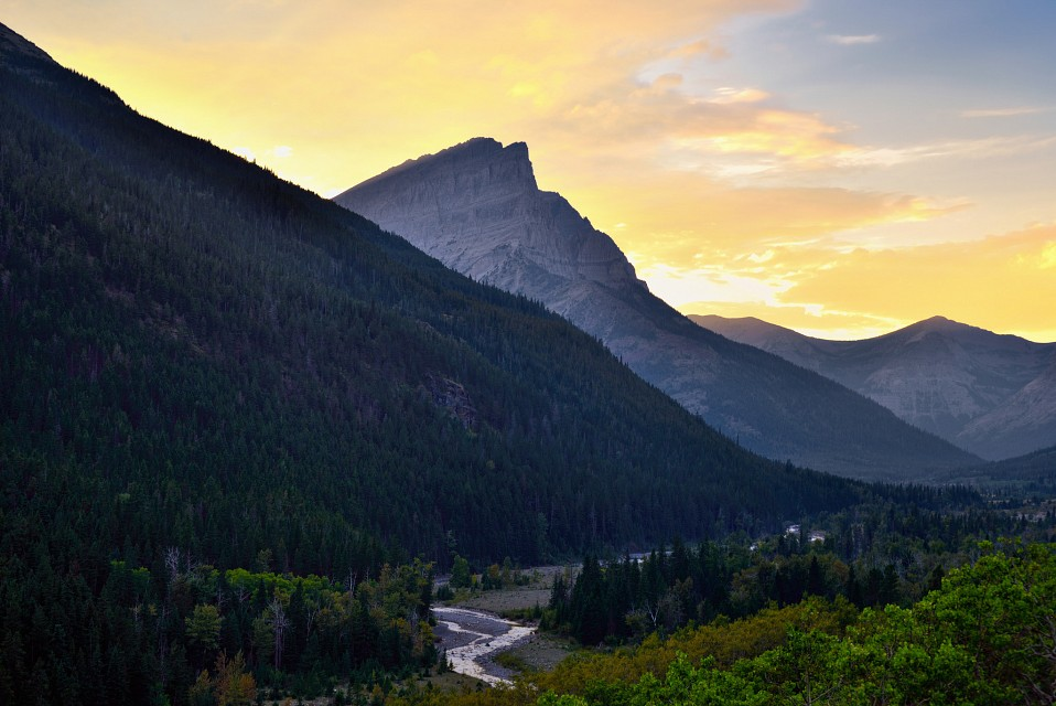 Sunset in the Canadian Rockies - Waterton Lakes National Park