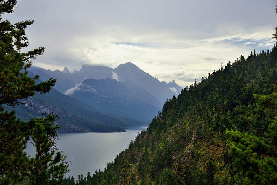 Mountains and Upper Waterton Lakes - Waterton Lakes National Park