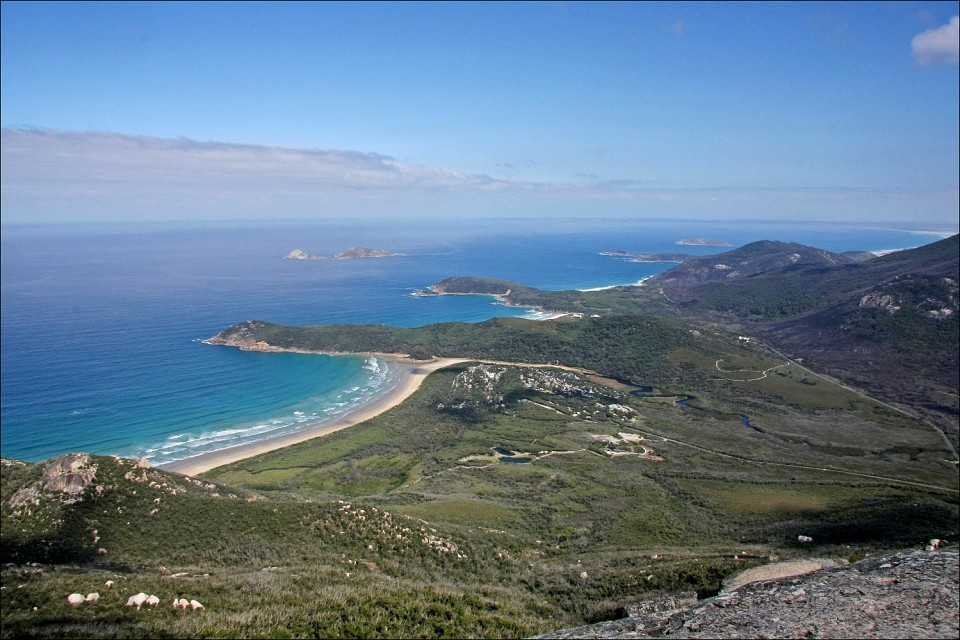 View over Tidal River from Mt Oberon - Wilsons Promontory National Park