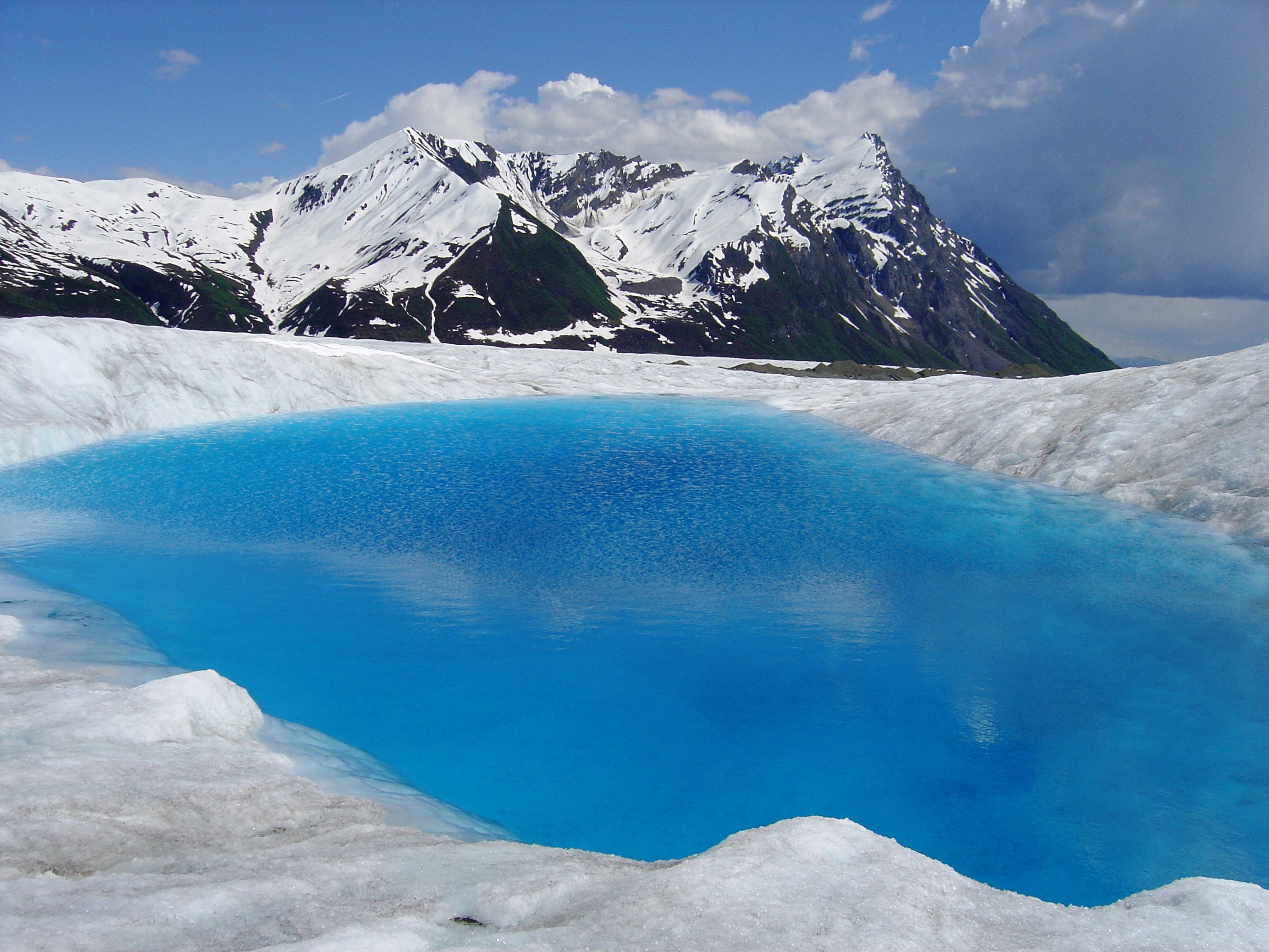 Bleue Glacier : Wrangell st elias national park and preserve