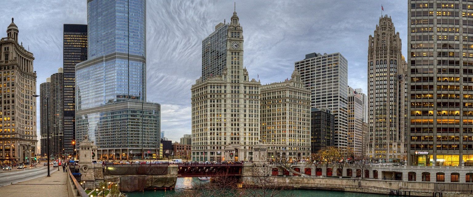 Chicago architecture, notably Trump Tower and Wrigley Building - Wrigley Building