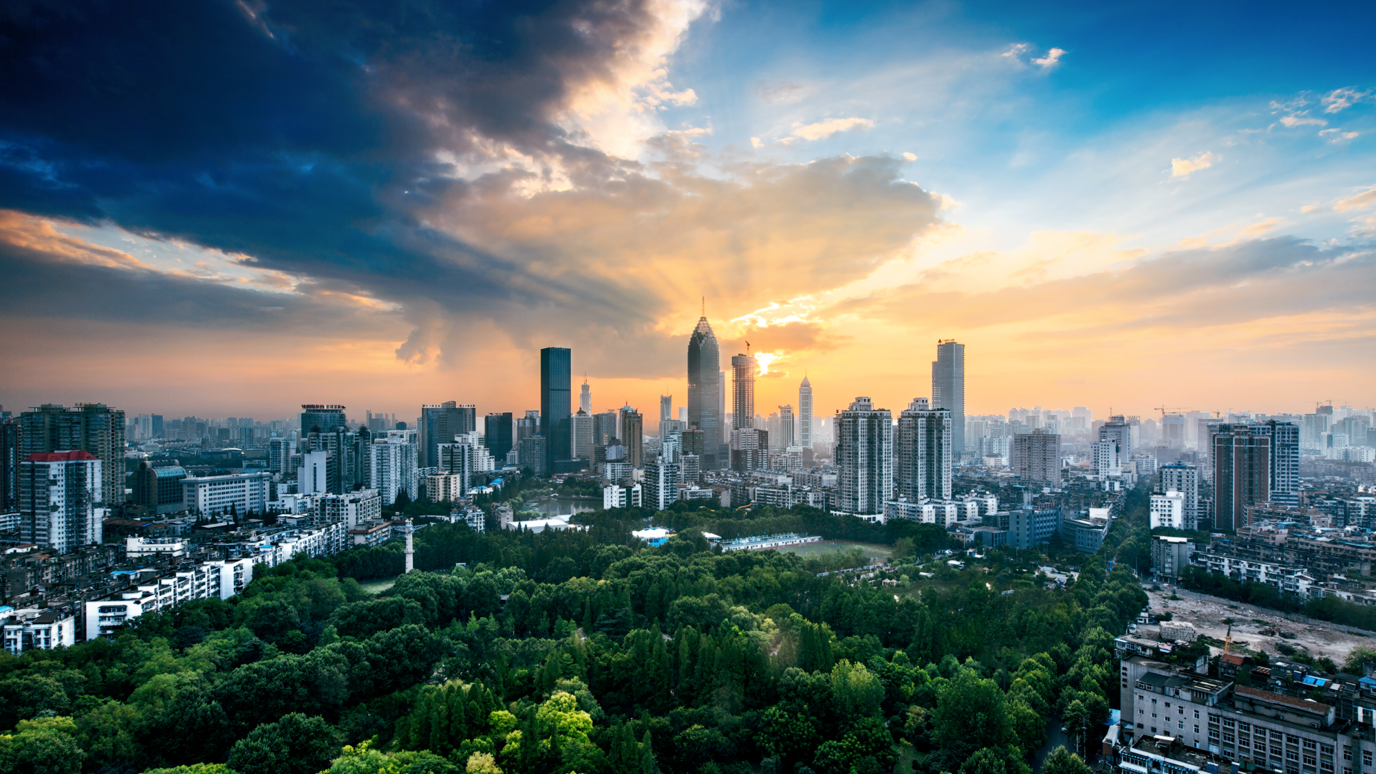 Image result for wuhan china skyline