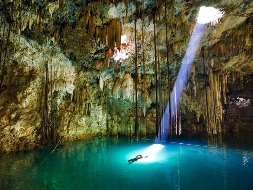 Xkeken Cenote. Sink Hole in Mexico, North America