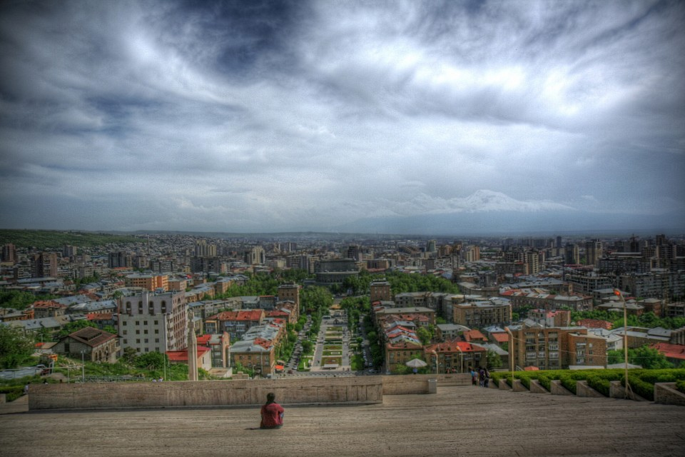 Yerevan: a view from Cascade's stairs - Yerevan