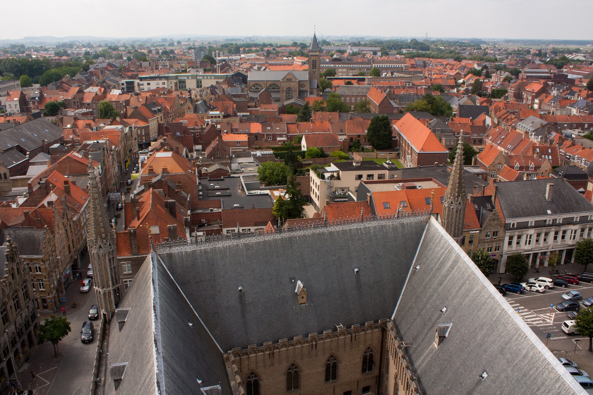 View from the top of Cloth Hall, Ypres