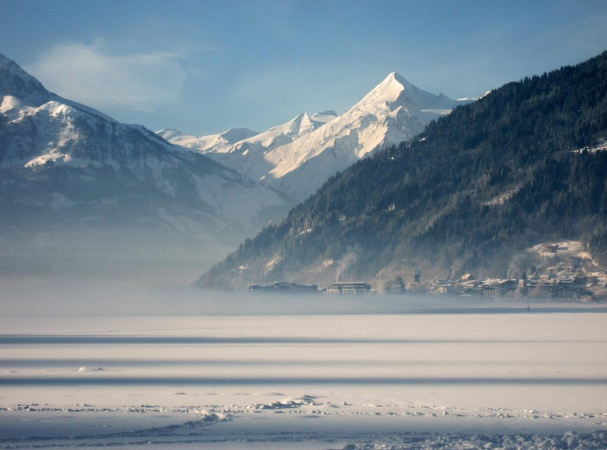 the frozen lake at zell am see - Zell am See